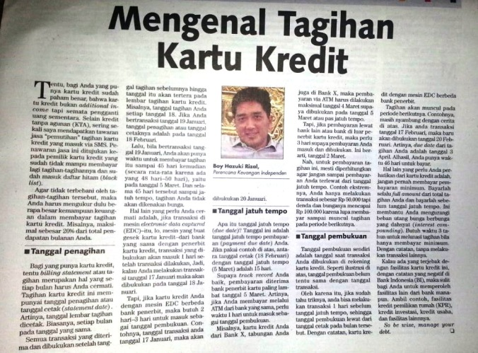 rizalplanner_Tabloid Kontan 6Feb17