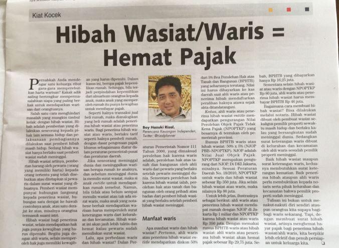 Hibah Wasiat Waris Hemat Pajak Rizal Planner