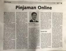 Boy Hazuki Rizal_Tabloid Kontan 15Jan18_Pinjaman Online