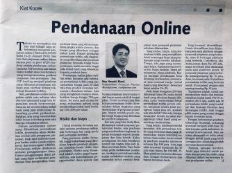 Boy Hazuki Rizal_Tabloid Kontan 29Jan18_Pendanaan Online
