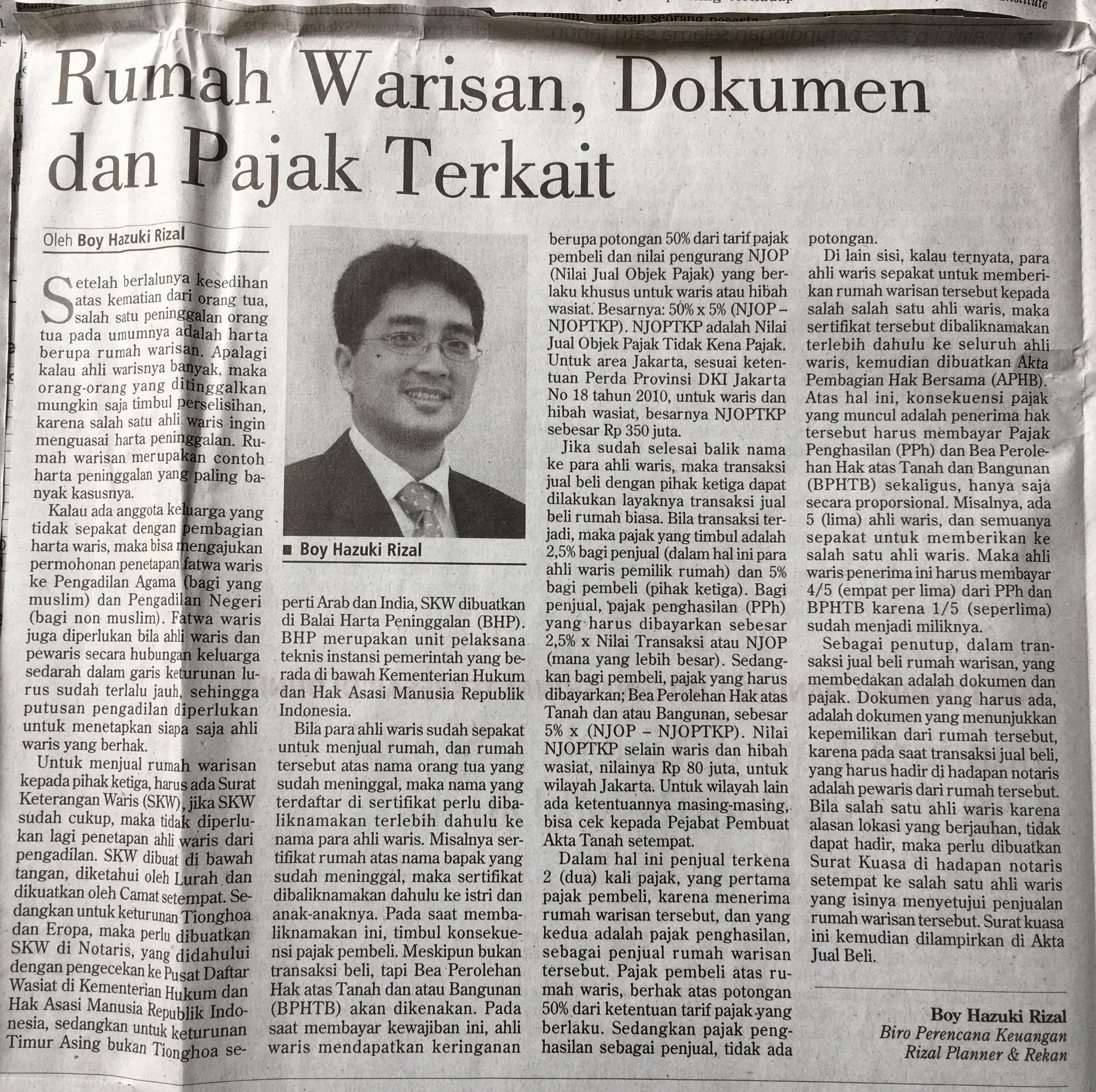 Boy Hazuki Rizal Investor Daily 28Sep19